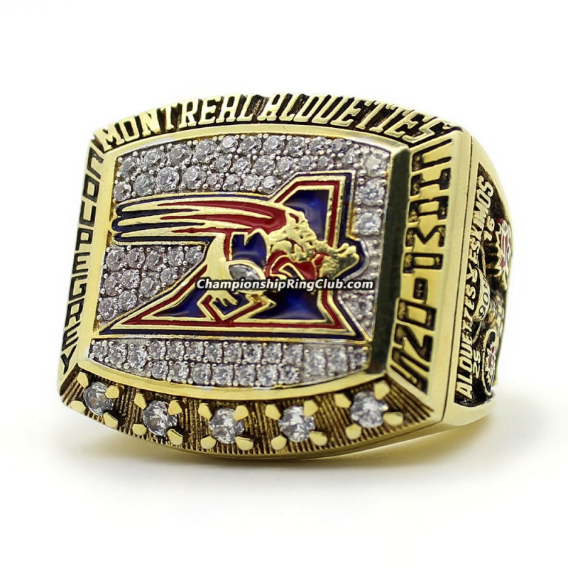 2002 Montreal Alouettes Grey Cup Championship Ring