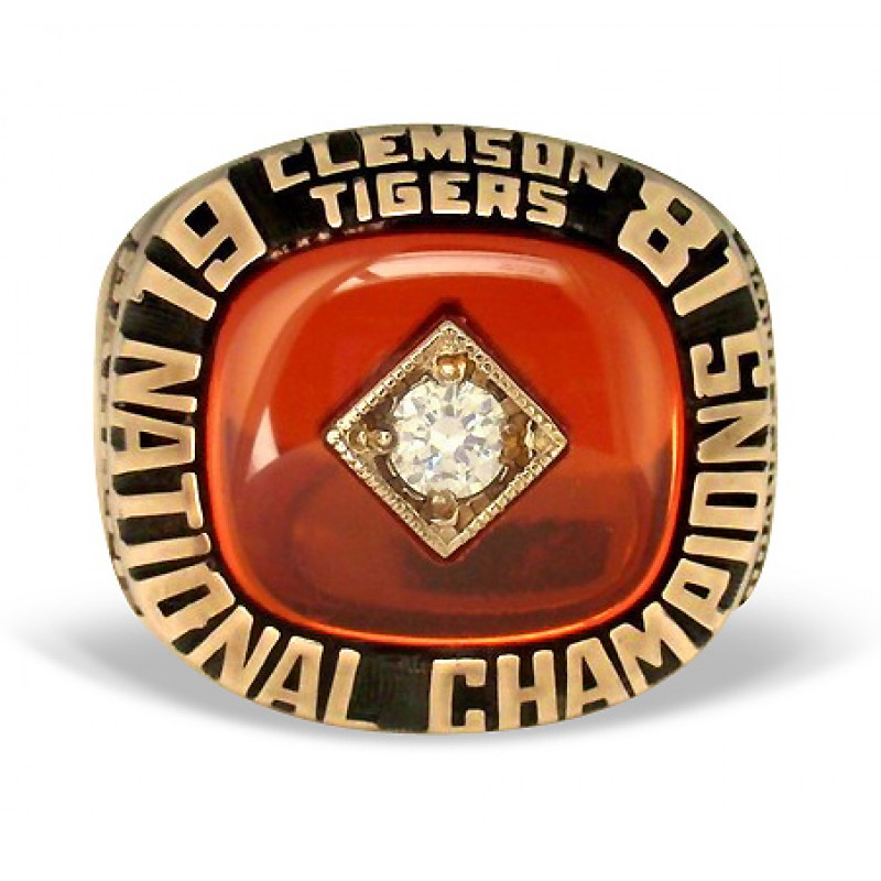 1981 Clemson Tigers National Championship Ring