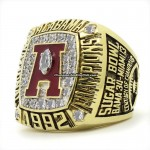1992 Alabama Crimson Tide National Championship Ring