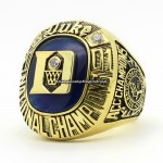 2001 Duke Blue Devils National Championship Ring