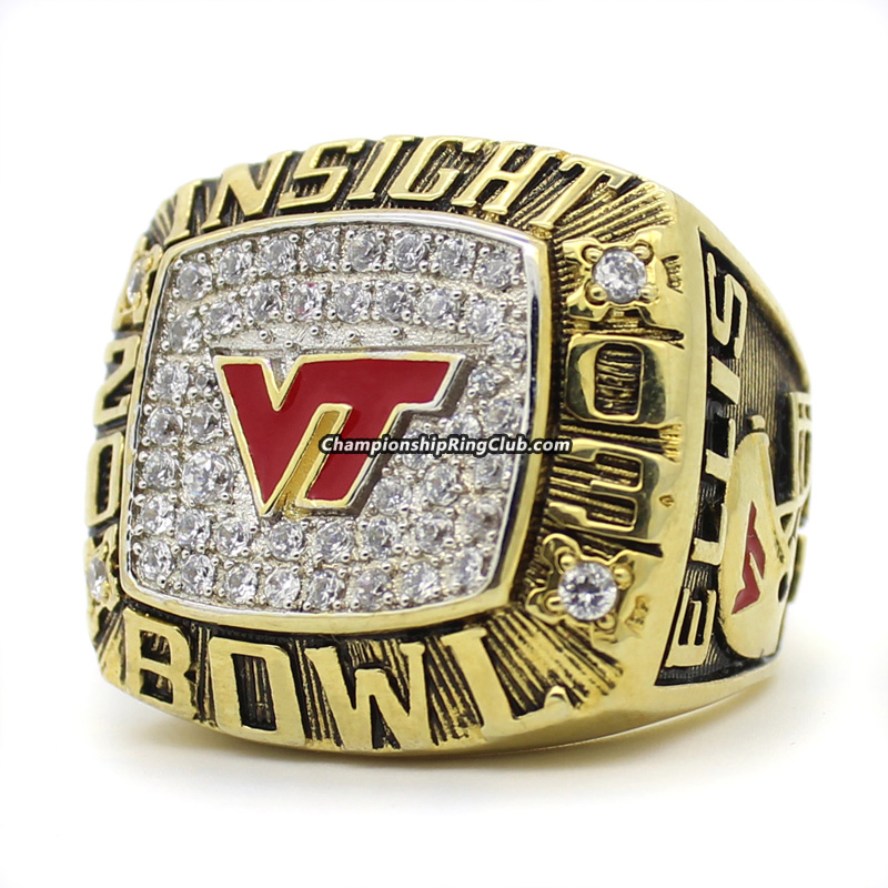 2003 Virginia Tech Hokies NCAA Insight Bowl Championship Ring