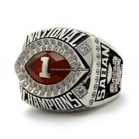 2009 Alabama Crimson Tide NCAA BCS National Championship Ring
