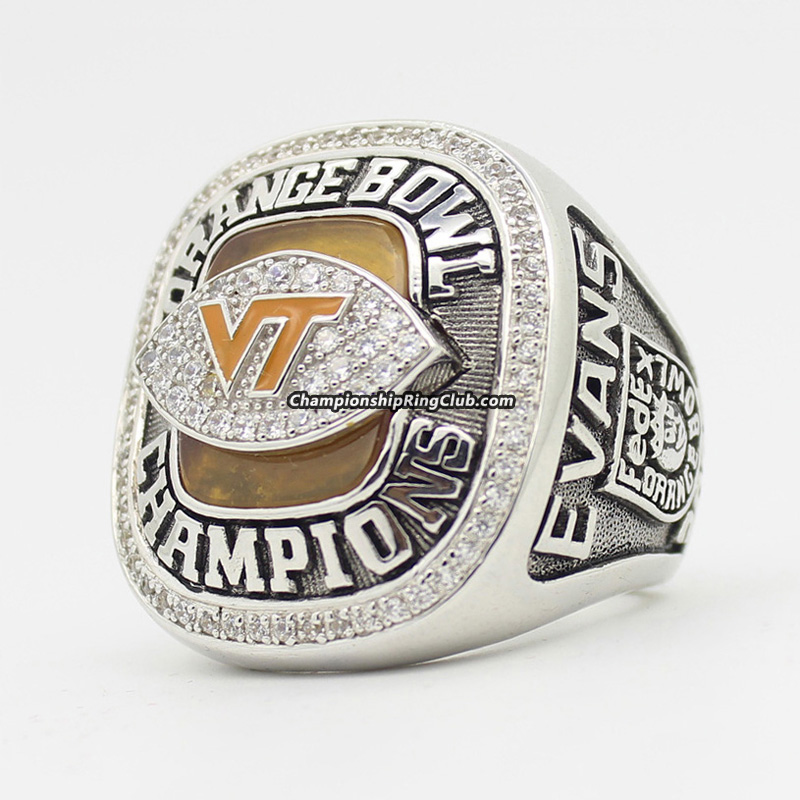 2009 Virginia Tech Hokies NCAA Orange Bowl Championship Ring