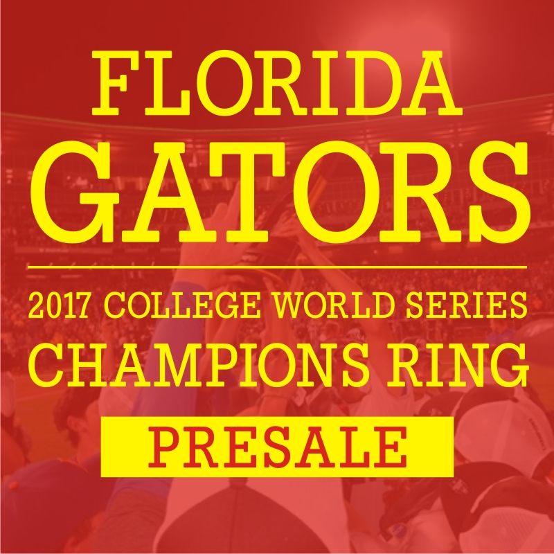 Presale: 2017 Florida Gators Baseball  National Championship Ring