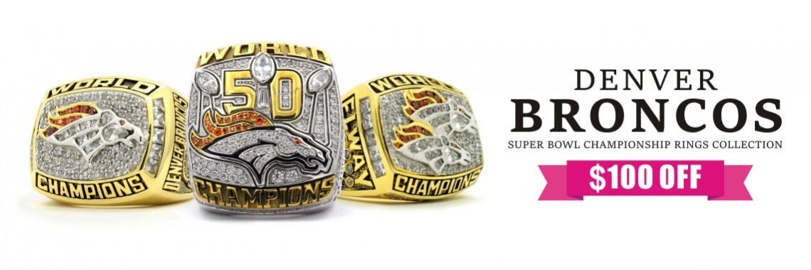 Denver Broncos Super Bowl Championship Rings Collection