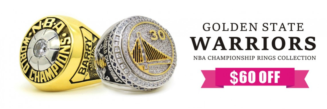 1975 2015 Golden State Warriors Championship Rings Collection