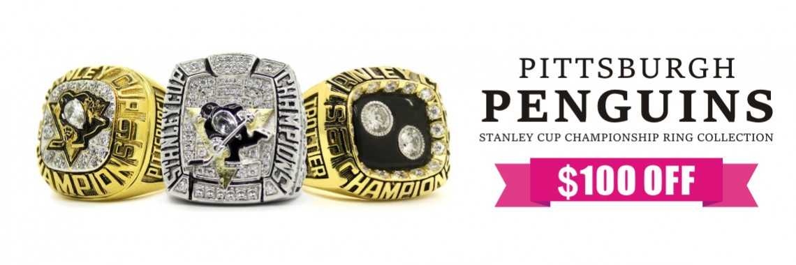 Pittsburgh Penguins Stanley Cup Championship Rings Collection